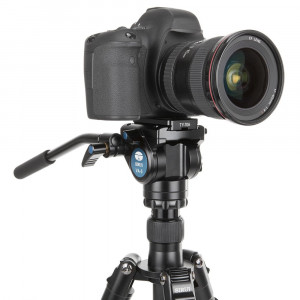 Sirui VA-5 Fluid Videoneiger (mit Schnellwechselplatte 69mm, flache Basis, Aluminium) schwarz-22