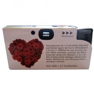 Einwegkamera / Hochzeitskamera Rote Rosen (27 Fotos, Blitz, 10-er Pack)-22