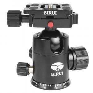 SIRUI G-20X Stativkugelkopf (Alu, Höhe: 98mm, Gewicht: 0.36kg, Belastbarkeit: 20kg) schwarz mit Wechselplatte TY-50X-22