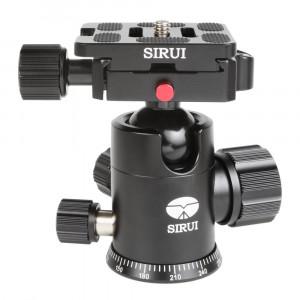 SIRUI G-10X Stativkugelkopf (Alu, Höhe: 88mm, Gewicht: 0.3kg, Belastbarkeit: 18kg) schwarz mit Wechselplatte TY-50X-22