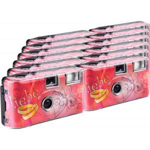 TopShot Love Hearts Einwegkamera / Hochzeitskamera (27 Fotos, Blitz, 12-er Pack)-21