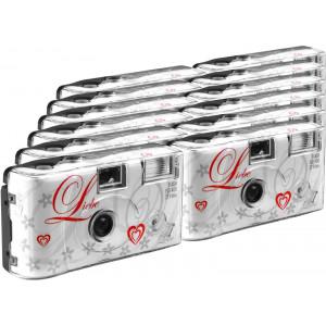 TopShot Love weiss Einwegkamera / Hochzeitskamera (27 Fotos, Blitz, 12-er Pack)-21