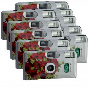 Hochzeitskamera rote Rosen 10er Pack Einwegkamera/Single use-22