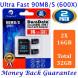 Zwei 16GB Micro SD Karte Plus Adapter (Class 10 UHS-I MicroSDHC Extrem Pro Speicherkarte) 16 GB Ultra Schnelle Geschwindigkeit 90MB/s 600X UHS-1 Microsd SDHC Pack. Amplim 16G Hochleistungs Handy TF 2X-07